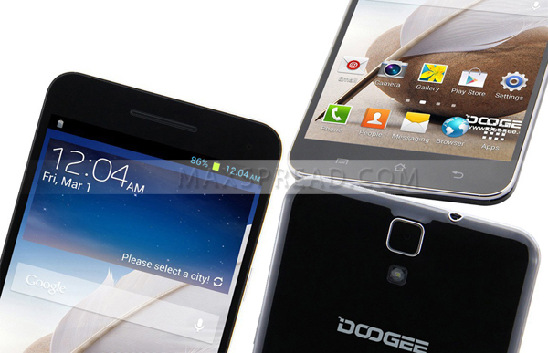New Arrival Doogee DG650 Android 4.2 3G Smartphone MTK6589 quad Core 6.5 inch new design smart phone