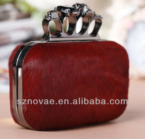 stylish party clutch bag / purse with horse hair for women
