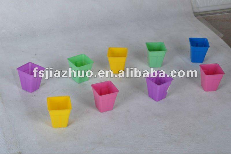 Mini couleur pot, Pot de fleur en plastique, Pot de fleur gros, 3 polegada