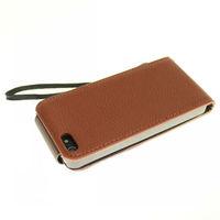 Чехол для для мобильных телефонов 1PC Bulk PU Leather Wallet Card Flip Case Litchi Stria Cover + Strap Fit For iPhone 5 5G Cell Phone Accessories