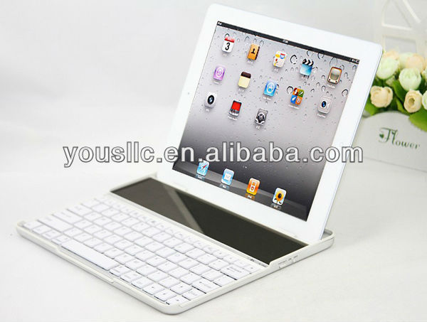 Hot selling Aluminum solar energy keyboard case for ipad 4 3 2