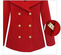 Женская одежда из шерсти 2013 Excellent qaulity, European style double-breasted elegant fashion woolen thick ladies winter coat