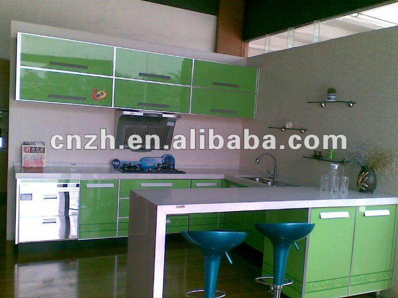 Mueble cocina de alto brillo uv mdf puerta mobiliario de cocina ...
