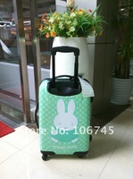 Free Shipping! Lovly Rabbit travelling luggage/trolley/suitcase, high quality ABS~~~