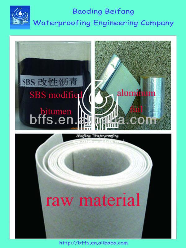 aluminium foil 3mm SBS waterproof bitumen asphalt roofing felt