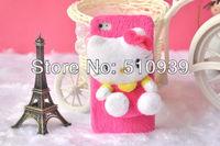 Чехол для для мобильных телефонов 1pcs Cute Downy 3D Hellokitty/Lilo&Stitch Idoll case for iphone4 4s 4g Cartoon idoll case for iphone 4s