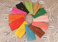 Кошелек 12 Colors Women Candy Soft PU Leather Card Wallet Purse Clutch Handbag Ladies' evening Clutches Wallets 3pcs/lot