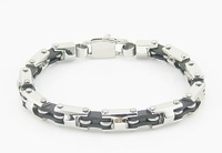 Браслет из нержавеющей стали EVBXGSL Ney style men stainless steel silicone bracelet fashion jewelry stainless bike chain bracelets