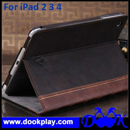 Flip Retro Book Case cover For iPad 2 & iPad 3 & iPad 4