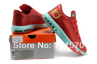 Мужская обувь kevin durant basketball shoes kevin durant shoes men athletic shoes KV VI Red Gold