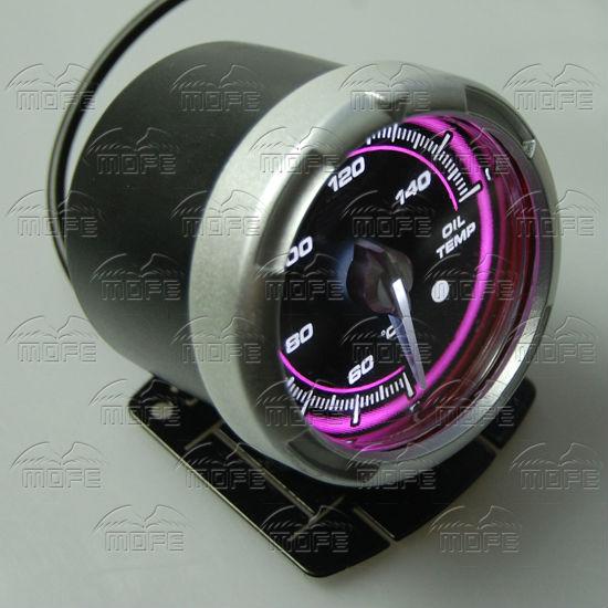 60MM Pink Blue LED Backlight Sensor + Stepping Motor Defi ADVANCE C2 Oil Temperature Temp Gauge Meter DSC_0350