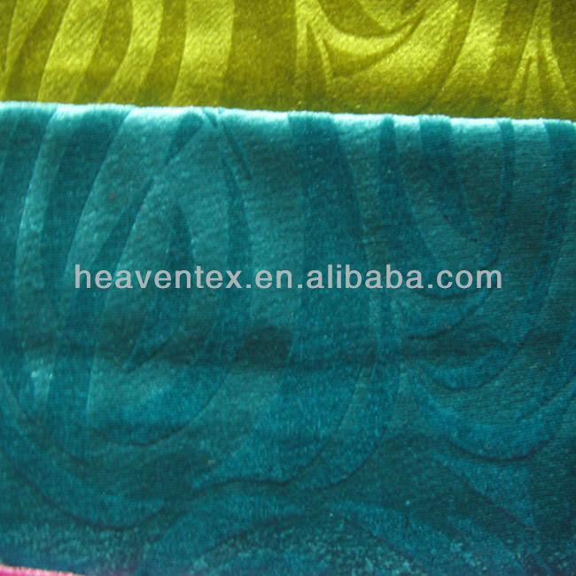 HX04004 100% polyester embossed velvet sofa fabric wholesale