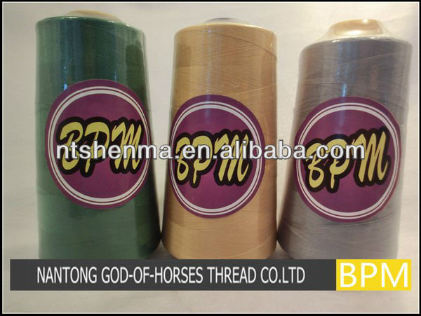 Best quality best sell nylon bonded sewing thread- blue t70