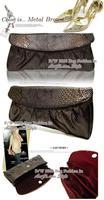 2012 women'shandbag Snakeskin, shoulder Clutch purses, Evening bag fashion PU leather, B025