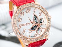Мода кожаный стальной ремешок женщин часы новый дизайн женщин смотреть женщин часы
