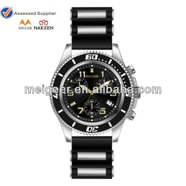 vogue western watch Hardened crystal lens silicon with steel band brilliant geneva watch