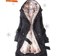 Cheapest women's fur coats /winter warm long coat