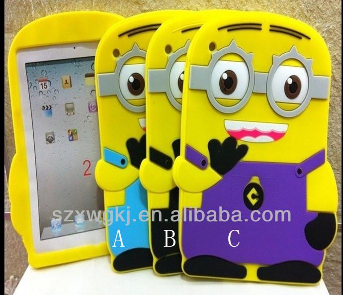 despicable me minion design for ipad mini cute animal shaped silicone case