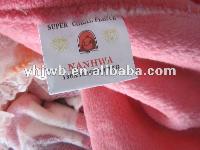 LOVE Pringting & Knitting Coral fleece Blankets