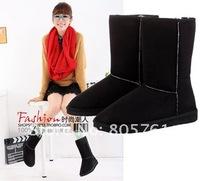 Женские ботинки 2012 HOT! Women's Winter Snow boots for Lady Women fashion warm flat heels 4colors
