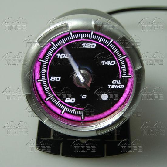 60MM Pink Blue LED Backlight Sensor + Stepping Motor Defi ADVANCE C2 Oil Temperature Temp Gauge Meter DSC_0355