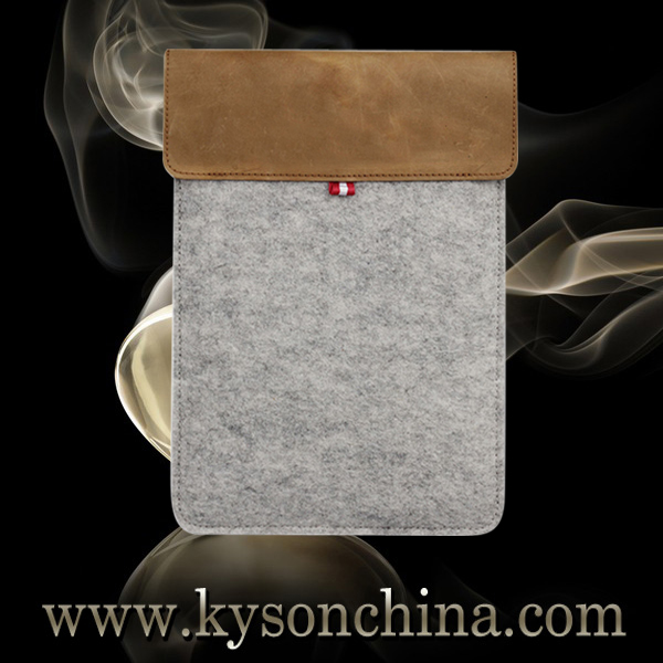 "8"" universal felt material sleeve for ipad mini tablet transformer cover"