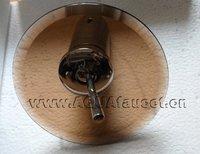 круглые коричневые стекло Водопад смеситель для раковины смеситель