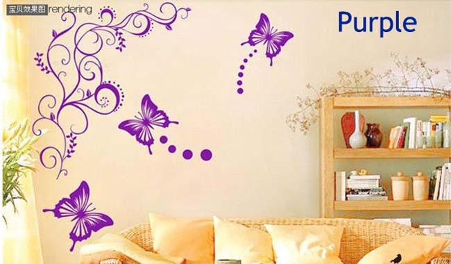 Красивые рисунки на стенах своими руками цветы