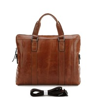 Портфель SHIP 5PCS/Lot Vintage Leather Men's Brown Briefcase Messenger Shoulder Handbag Laptop Bag Hot Sell #7097B
