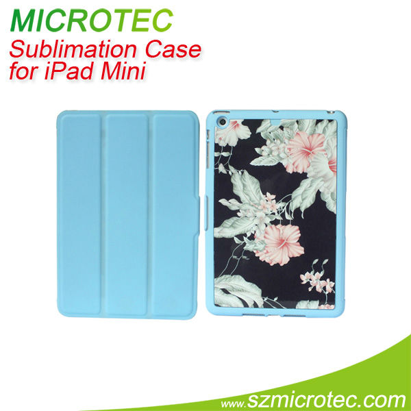 Hot sublimation leather pouch case for ipad mini