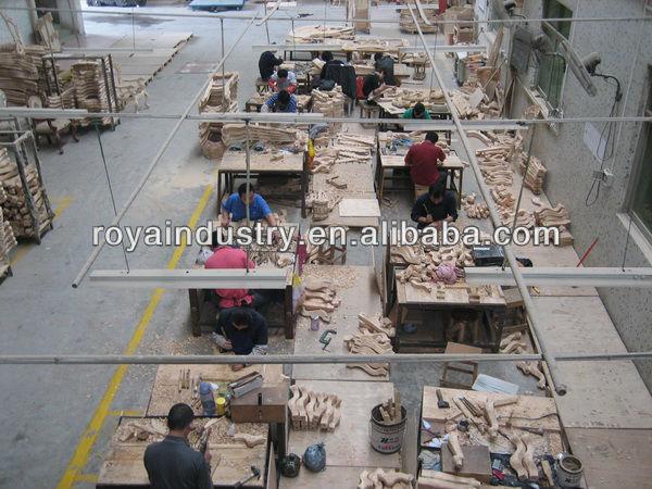 Estilo europeo de madera maciza tallada muebles de dormitorio ...