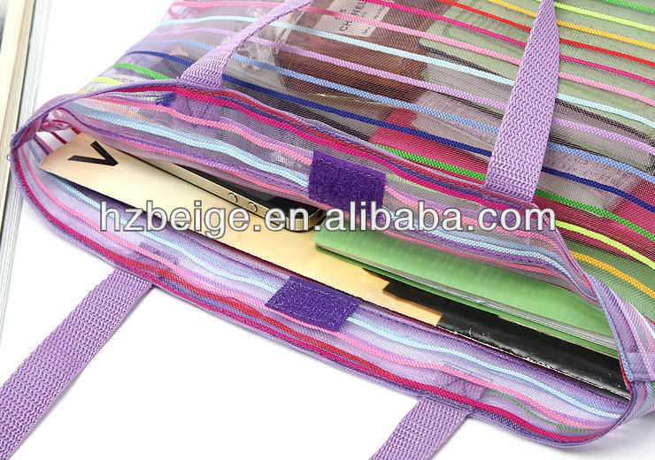 Colorful promotion mesh tote bag, beach bag, shoulder bag