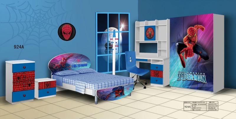 Enfants chambre meubles caricatures spiderman designs pour