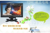 Телевизор 2012 7 inch LCD TV/tuning the small star/webcam monitor/double video TV/AV/BNC
