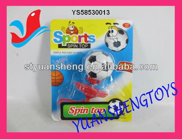 mini spinning item football design measure tape spinning top toy