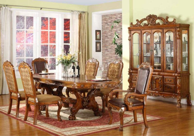 Jogo De Sala De Jantar Em Madeira ~ de madeira antiga sala de jantar conjunto mesa de jantar, cadeira de