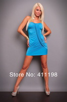 Hot sell aolover Sexy lingerie jumpsuit lady strapless women dress LY5904 white, black, pink, blue, DK blue, red 6 colors