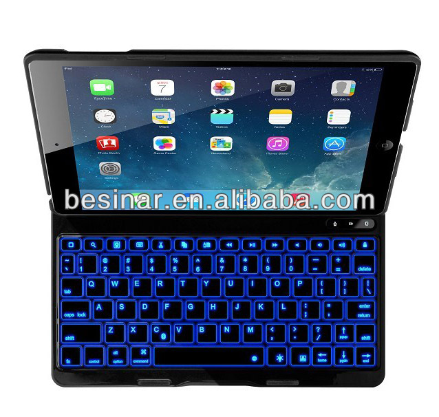 For iPad air Ultra Thin Bluetooth Keyboard Case illuminated For iPad mini Bluetooth Keyboard Backlit