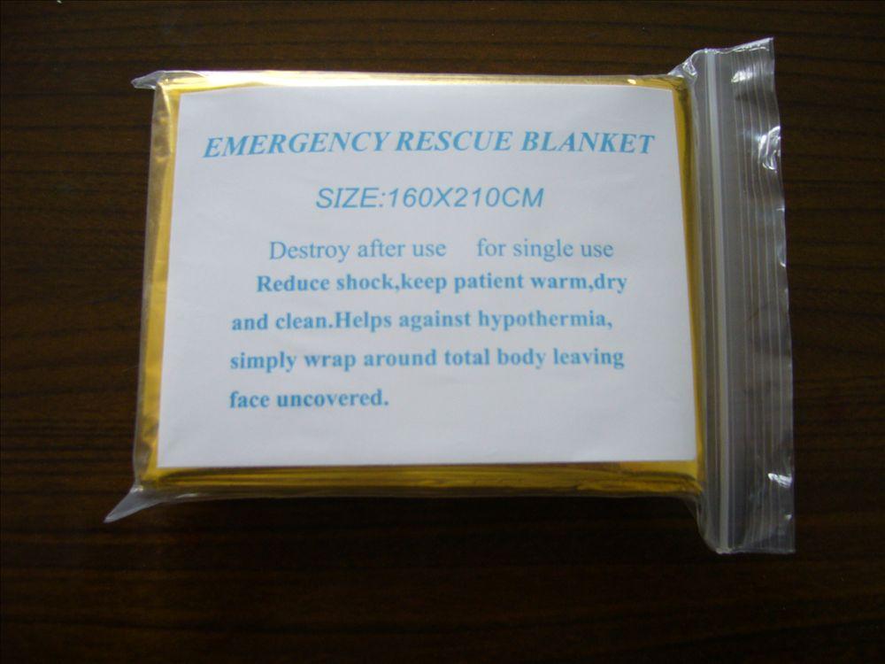 Открытый аварийного выживание отдых на природе спасательные майлара походы спальный одеяло