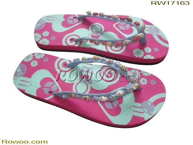 RW17163 kids' beach pu slippers