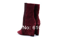 Женские ботинки Brand design womens booties horsehair platform heels genuine leather snow boots for winter wedge boots fashion boot woman shoes