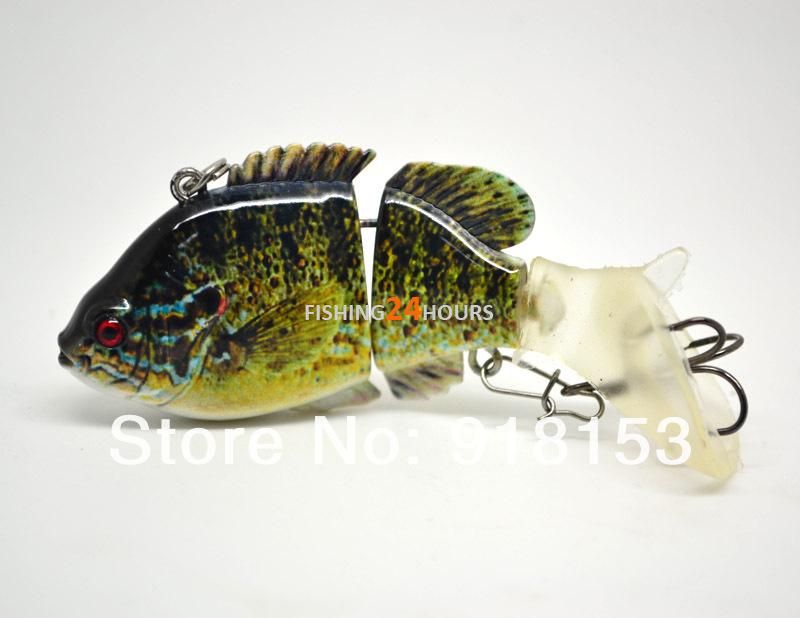 8cm jointed bass fishing lure bait swimbait wobbler life like, Fishing Bait
