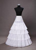 2011 fashionable fantastic fairy white four layers long petticoat