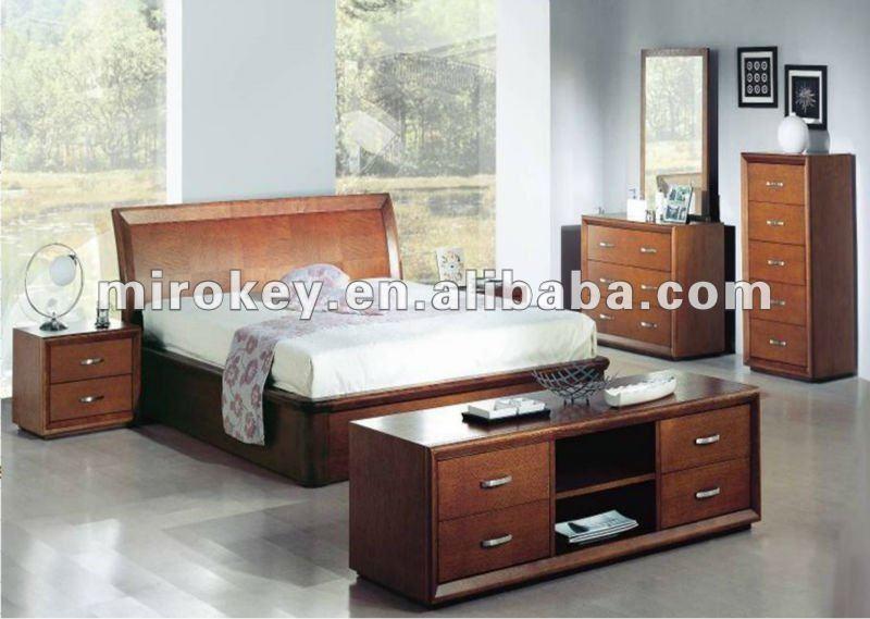De roble y mdf muebles de dormitorio moderno conjunto (872)Sets