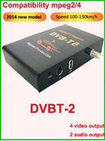 Специализированный магазин Car ISDB-T mobile digital tv tuner Receiver for Brazil and South America support 250km/h and with 2 video output