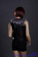 Женская одежда из меха warm woman fox fur vest