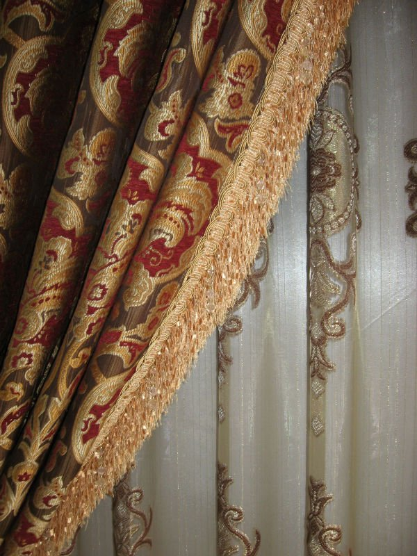 Luxury European Style Jaquard Window Curtains/ Drapes - Buy ...