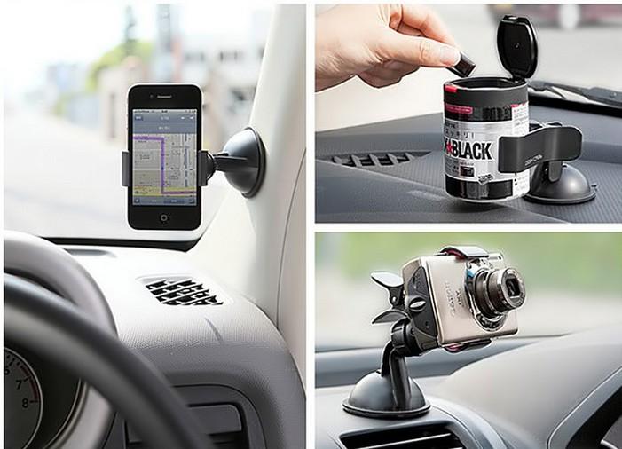 משלוח חינם השמשה 360 תואר הסיבוב פרייר רכב הר תושבת, מחזיק סטנד אוניברסלי עבור GPS טלפון Tablet PC אביזרים