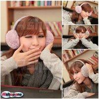 Женские наушники для защиты от холода 10x New Unisex Soft Fur Fluffy Plush Ear Warmer Muff Band Headband