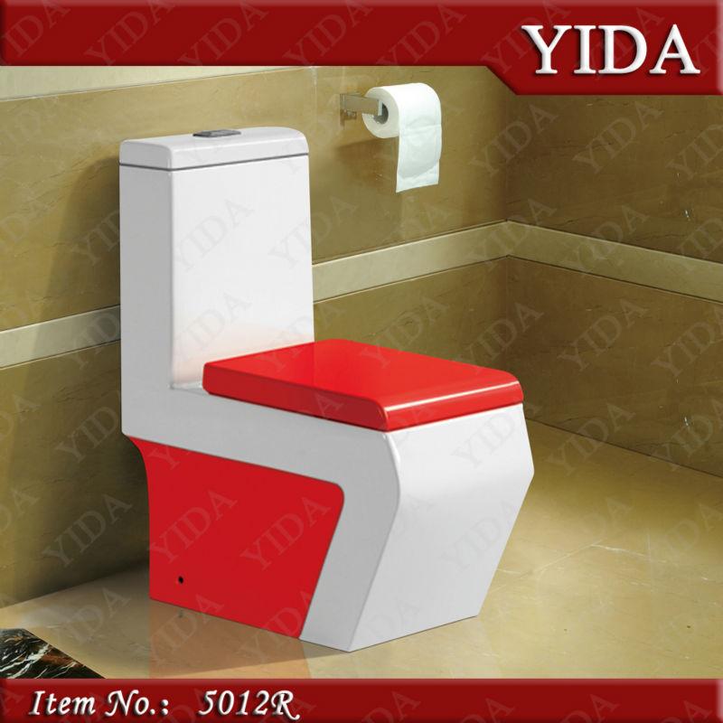 Tasa De Baño O Inodoro:Red Toilet Bowl